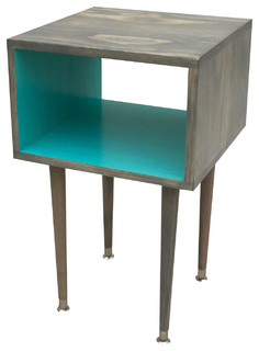 The Joliet Side Table, Turquoise