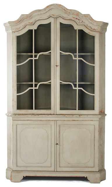 French Country Veronica Craftmanship Antique Style Open Large Cabinet China  Cabinets And Hutches