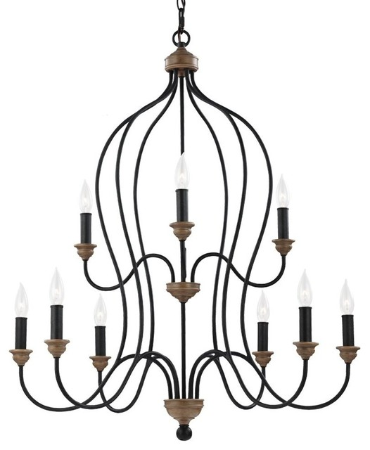 Feiss feiss hartsville 9 light chandelier chalk washed feiss chandelier traditional chandeliers mozeypictures Image collections