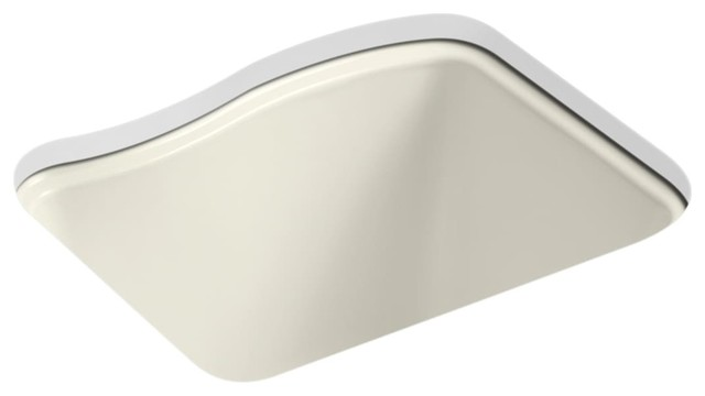 Kohler River Falls Undercounter Sink With 4-Hole Faucet Drilling, Biscuit.