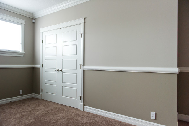 Strathcona county traditional basement edmonton by infiniti master builder inc Master bedroom chair rail