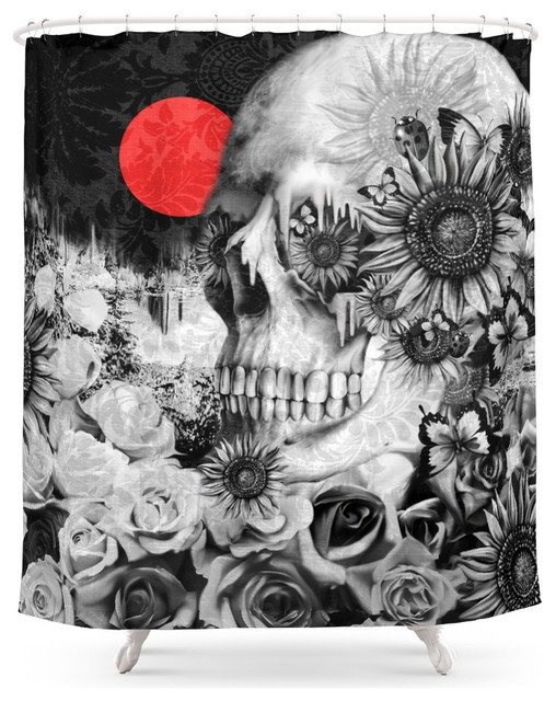 shop houzz | society6 society6 fire in the dark, nature skull