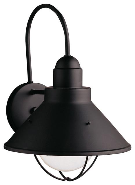 Kichler Outdoor Wall Light, Black.