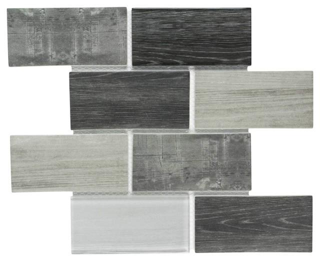 Mto0337 Modern Subway Gray Glossy Wood