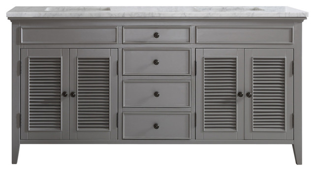 """McCabe Double Vanity, Gray, Without Mirror, 72"""""""