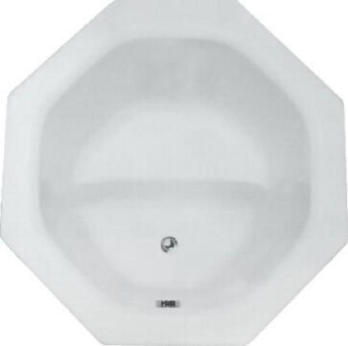 """40""""x40"""" Nagano Drop-In Octagonal Bathtub, Whirlpool."""