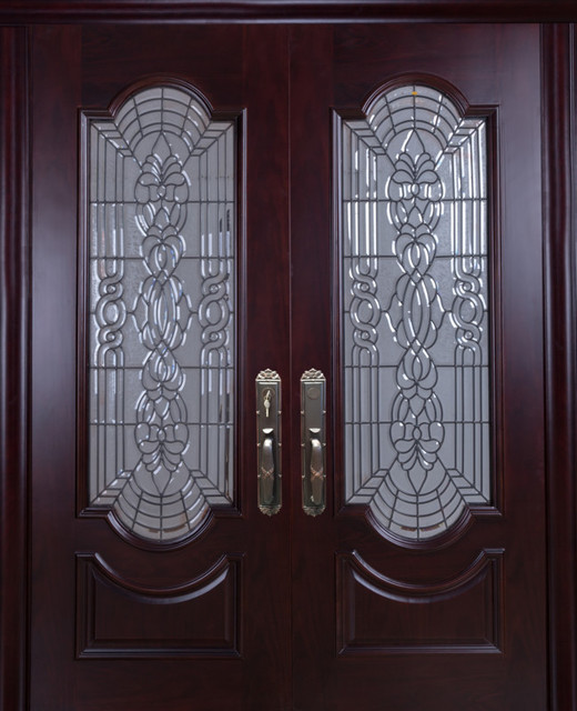 Mahogany Exterior Home Front Entry Door, 6u0027x8u0027 With 2 3/8