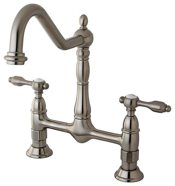 kingston brass tudor 8 quot kitchen faucet without sprayer
