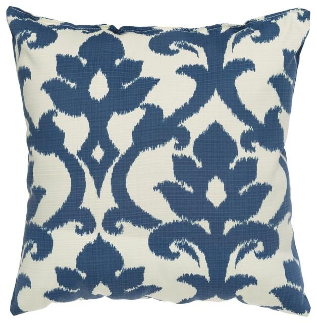 Navy Blue Basalto Outdoor Pillow 18 X18 Contemporary Outdoor