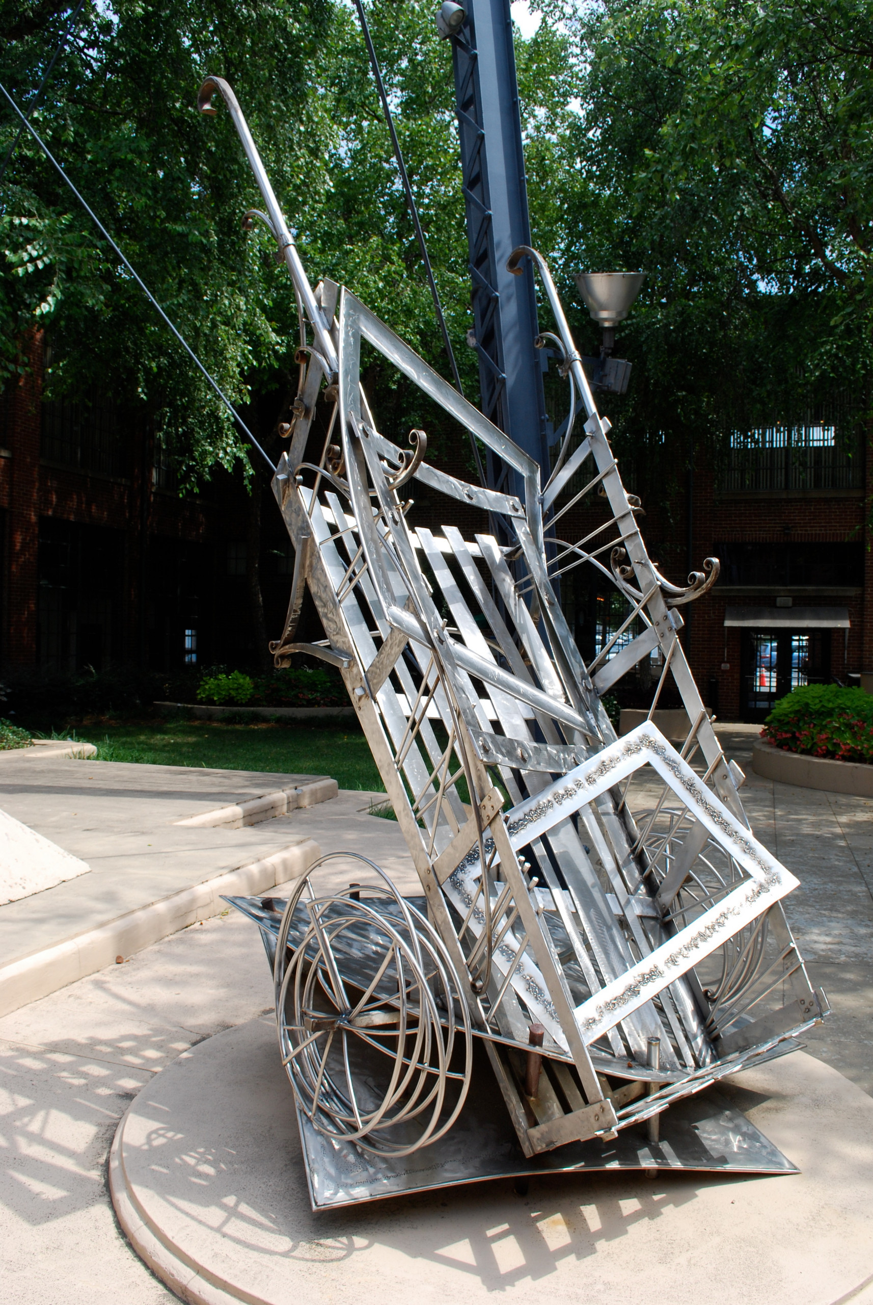 Metal sculpture by Benjamin Parrish.