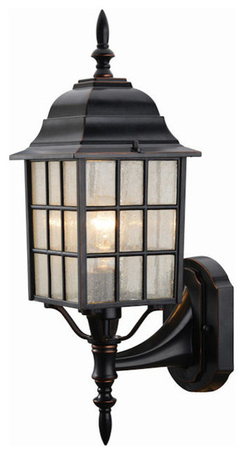 Oil Rubbed Bronze Outdoor Patio Porch Exterior Light Fixture Traditional Outdoor Wall Lights And Sconces By Door Corner