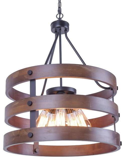 Rustic Wooden Chandelier Natural 5