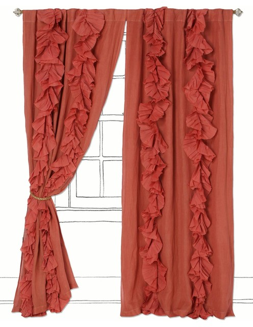 Wandering Pleats Curtain eclectic-curtains