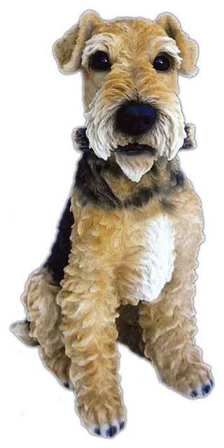 Realistic Airedale Terrier Dog Garden Statue 975 Transitional