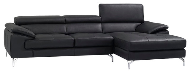 Phenomenal Jm A973B Premium Leather Sectional Sofa Black Ocoug Best Dining Table And Chair Ideas Images Ocougorg
