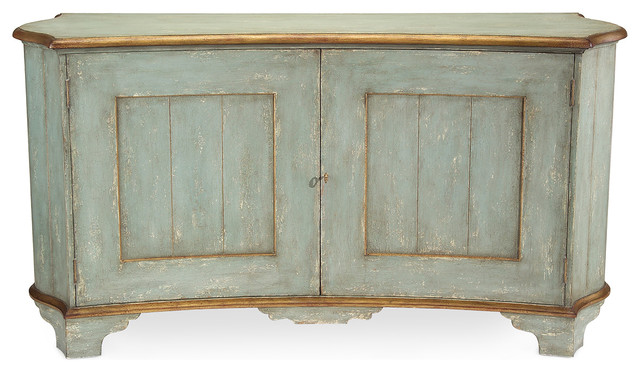 Claude French Country Light Blue Gold Gilded Buffet Sideboard