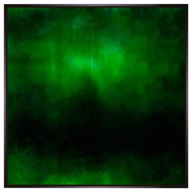 """Pictoclub """"green Waters 2"""" Canvas Painting, Large, Black Frame."""