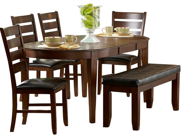 7 piece dining set with leaf formal dining room homelegance ameillia 7piece butterfly leaf oval dining room set