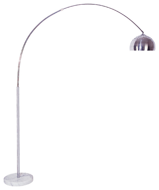 85 Quot Arch Floor Lamp Marble Base Contemporary Floor Lamps By Ore International