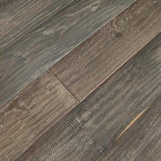 Ebony UV Oiled Prefinished Engineered Hardwood Flooring, 22.02 Sq. ft. - Rustic - Engineered ...