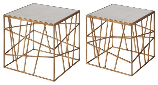 Uttermost Karkin Gold Accent Tables Set Of 2