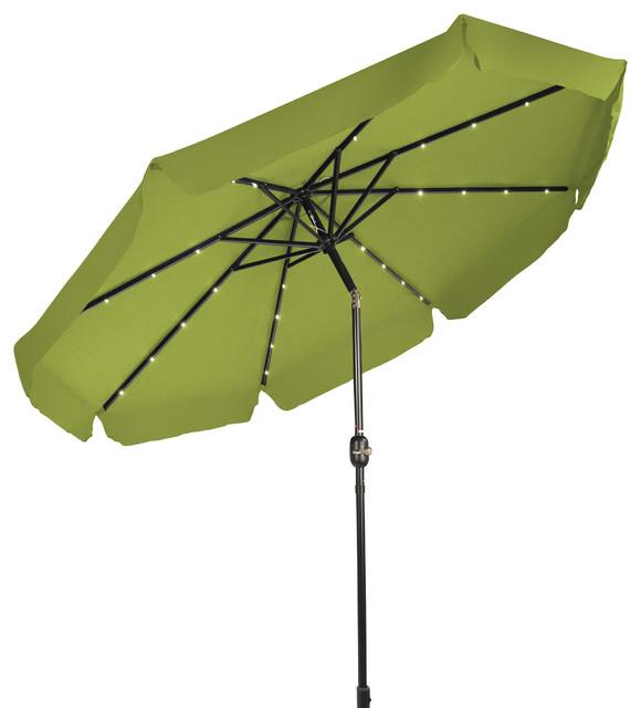 solar powered led lighted patio umbrella decor edges 9 39 light. Black Bedroom Furniture Sets. Home Design Ideas