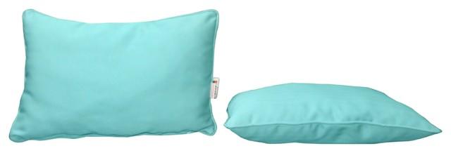 Modern Outdoor Lumbar Pillows : Sunbrella Designer Lumbar Set of 2 Pillow With Piping - Contemporary - Outdoor Cushions And ...