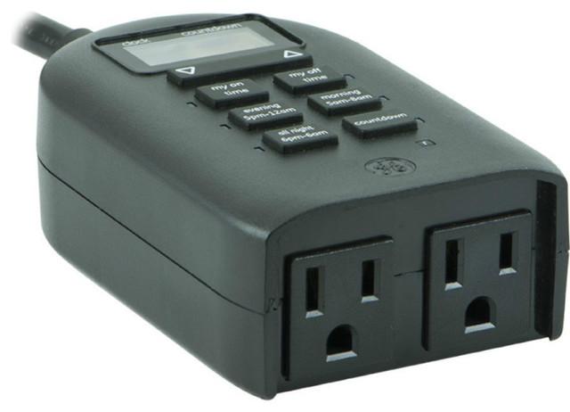 Ge 26898 Mytouchsmart Indoor Outdoor Plug In Digital Timer 125v 60hz