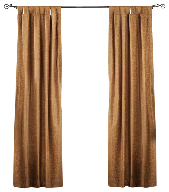 Taupe Tab Top Velvet Curtain Drape Panel Piece Traditional Curtains By Indian Selections
