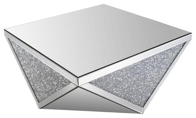 Coffee Table Crystal Mirror Contemporary Coffee
