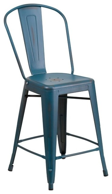 Flash Furniture 24quot Metal Counter Stool Crystal Blue  : bar stools and counter stools from www.houzz.com size 370 x 640 jpeg 32kB