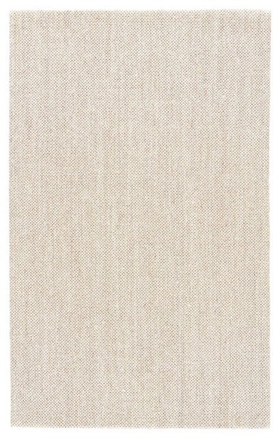 Jaipur Living Naples Natural Solid White Taupe Area Rug