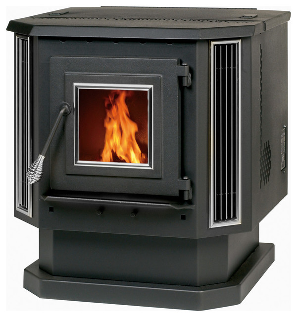 Free Standing Pellet Stove With Auto Start/blower, 2,200sq Ft., 60 Lb.hopper.