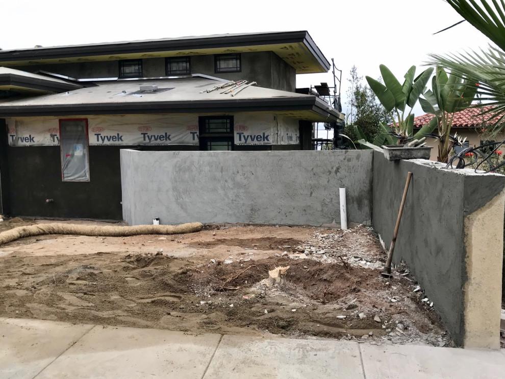 New Block Wall and Courtyard Wall