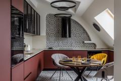 Проект недели: Мансардная кухня в стиле московского модерна
