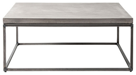 Perspective Square Coffee Table Large Industrial Coffee Tables By Lyon Beton