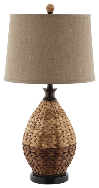 Weston 1 Light Table Lamp in Rattan