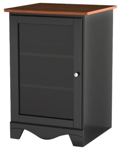 Nexera Pinnacle One Door Audio Tower In Cherry & Black.