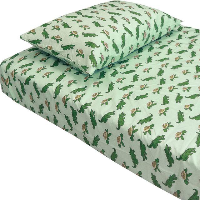 alligators turtles animal twin-single bedding sheet set