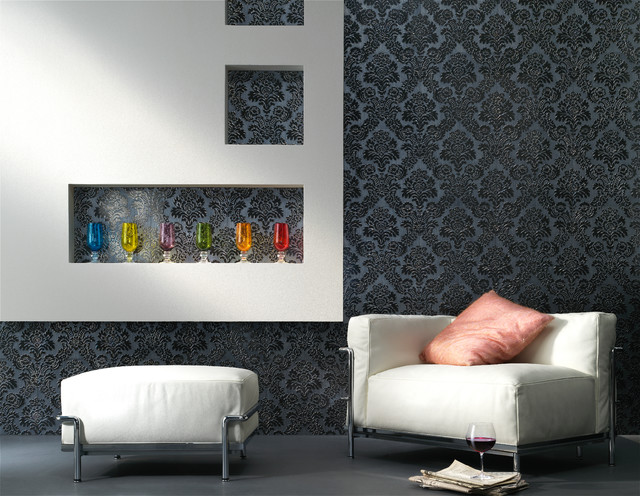 Marvelous Embossed Tile Lounge Feature Wall Contemporary Living Room Part 24