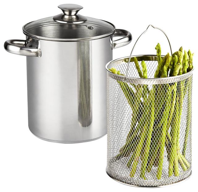 Cook N Home 4 Quart Vegetable Steamer Pot, Stainless Steel