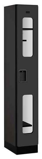 1-Tier See-Through Locker in Black - Contemporary ...