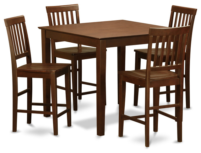 Vern Mah Kitchen Table Set Transitional Indoor Pub And Bistro Sets By D