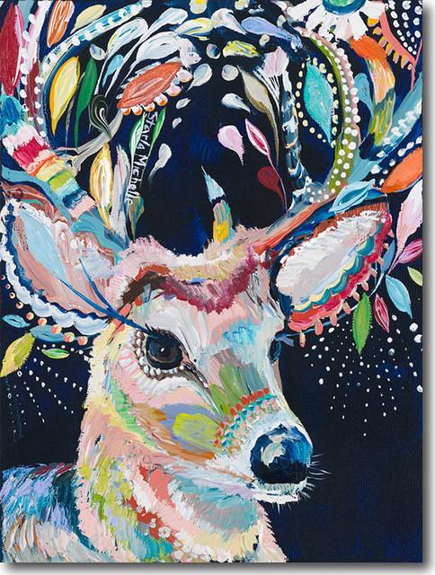 """d For Deer"" Artwork By Starla Michelle Halfmann, 18""x24""."