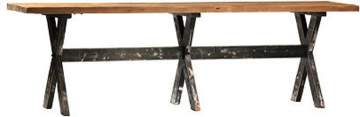 Puebla Reclaimed Wood Counter Height Dining Table Large Dining - Reclaimed wood counter height dining table