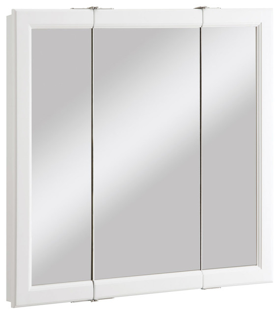 Tanager 3-Panel Medicine Cabinet, White.