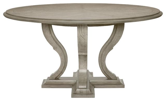 Bernhardt Marquesa Round Dining Table Gray Cashmere Finish