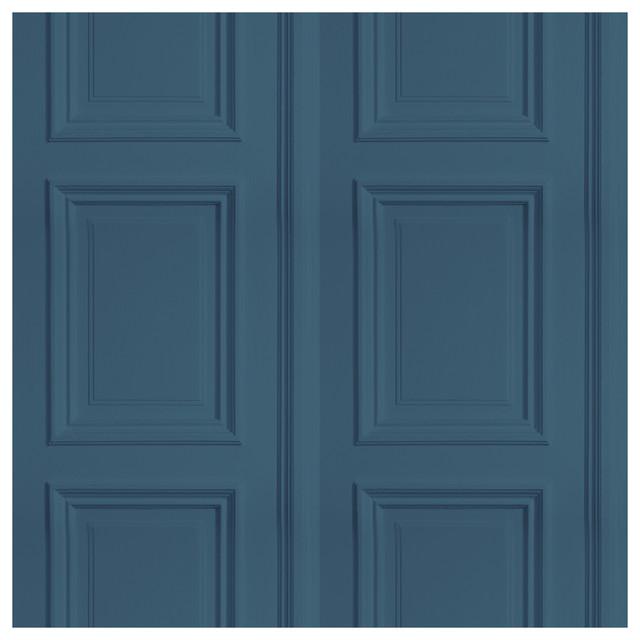 Panel Wallpaper, Textured Teal Blue