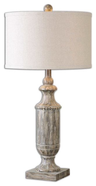 Uttermost Agliano Aged Dark Pecan Lamp.