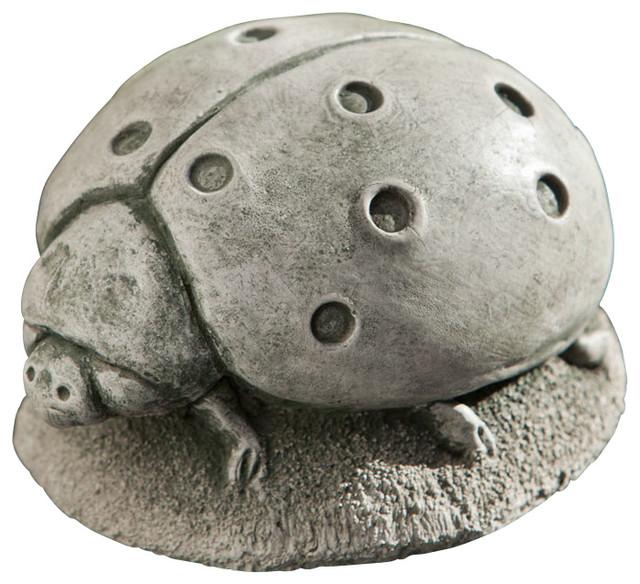 Perfect Campania Ladybug, Cast Stone Animal Statue Garden Art